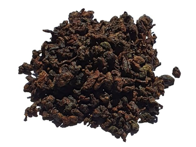 Wild tea oolong leaves